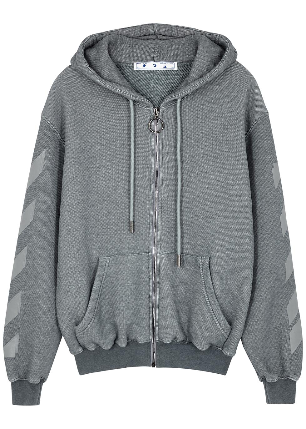 Arrows grey hooded cotton-blend sweatshirt