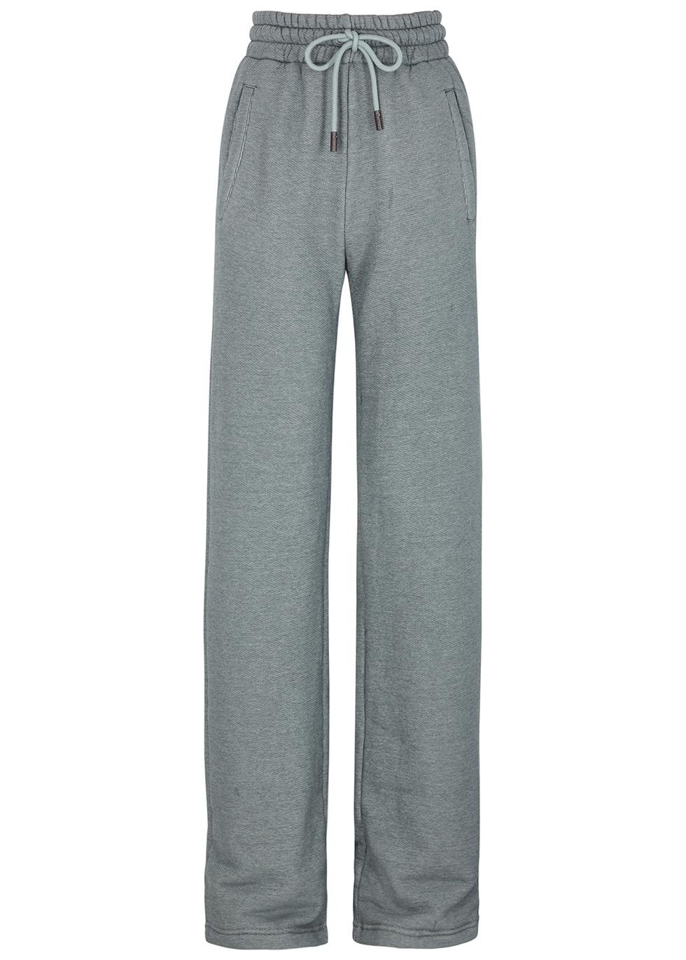 Diag grey cotton-blend sweatpants