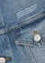 Blue logo-embroidered denim jacket - Off-White