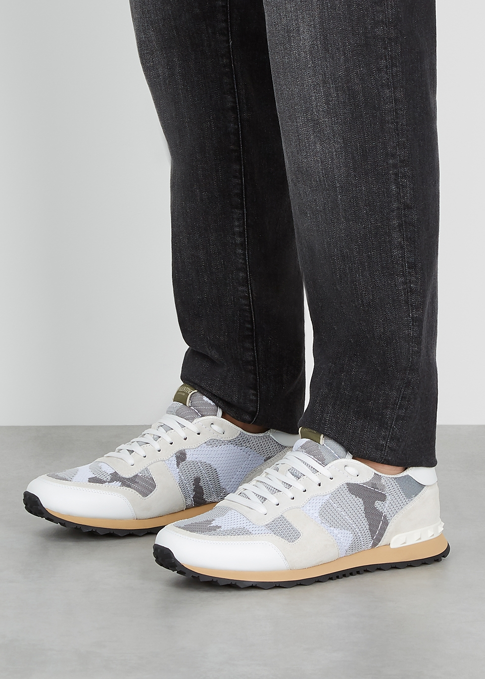 valentino grey camo sneakers