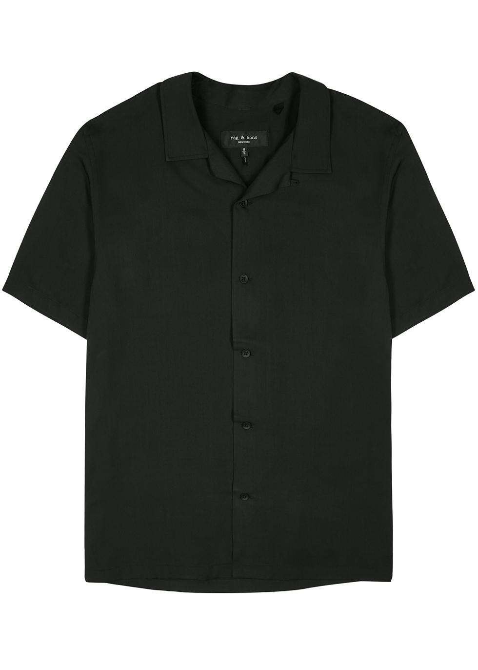Avery black twill shirt