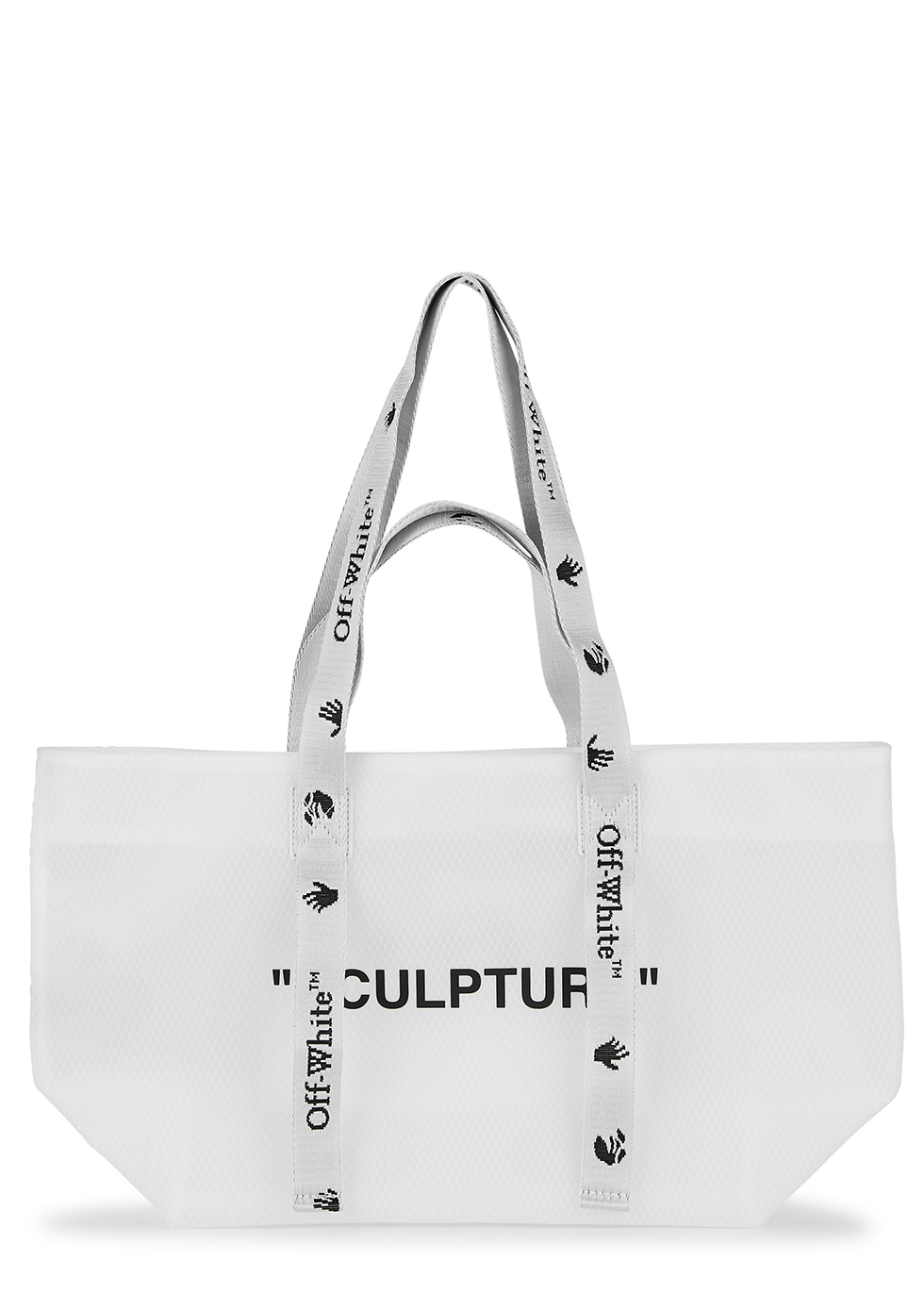 Commercial small white PVC tote