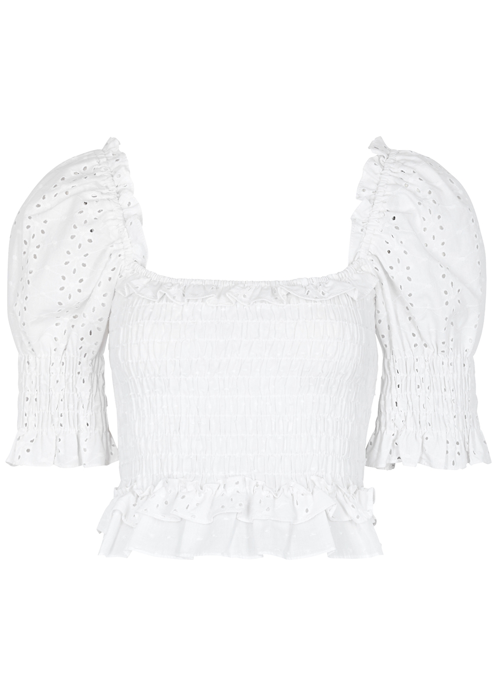 Misa ABBEY WHITE BRODERIE ANGLAISE TOP