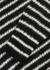 Monochrome striped mohair-blend jumper - Saint Laurent