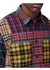 Patchwork check cotton oversized shirt - Burberry