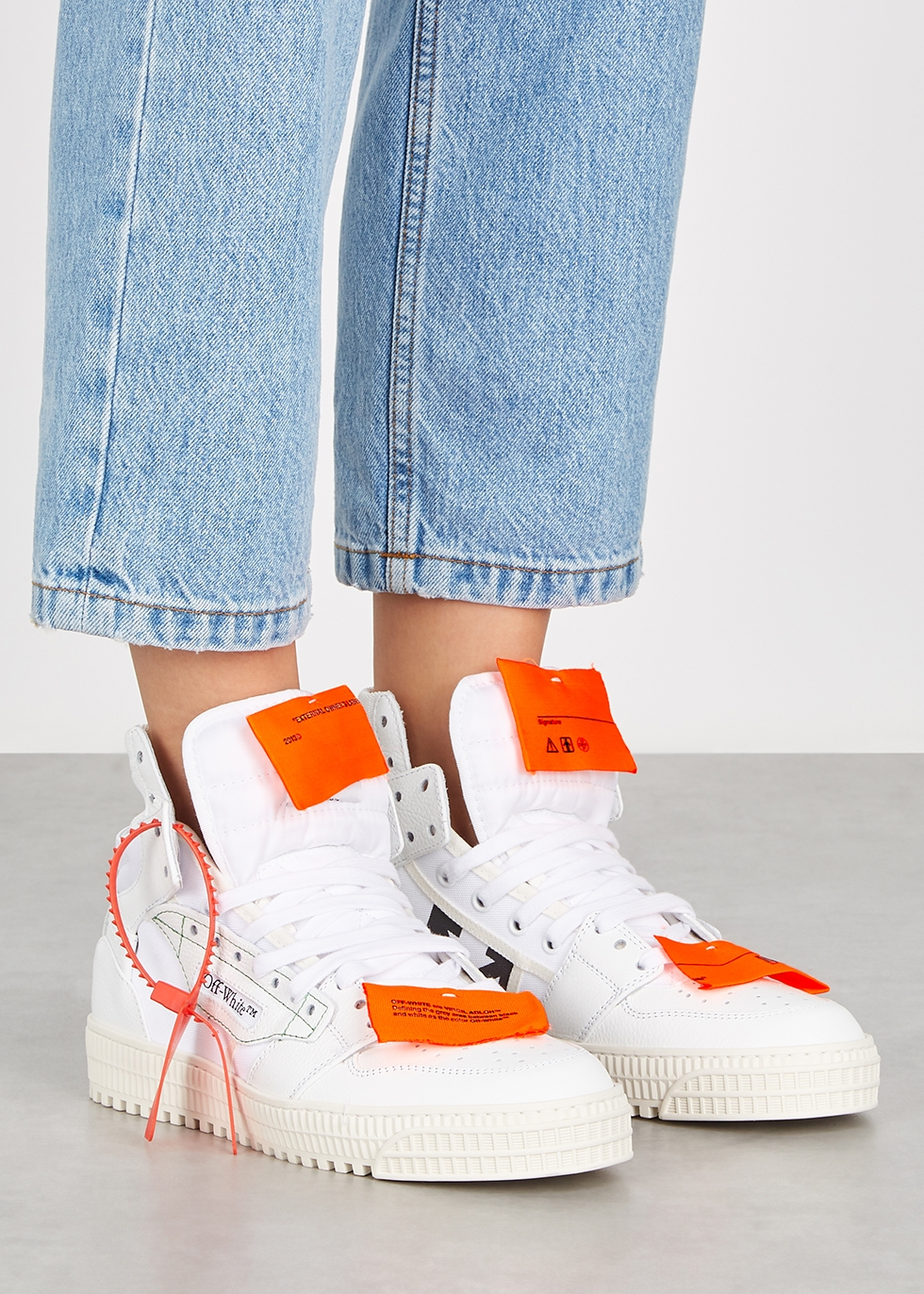 Off-Court 3.0 white leather hi-top