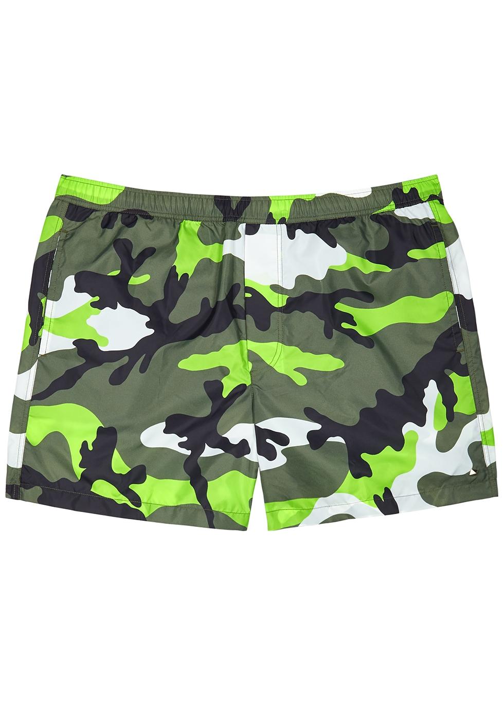 Valentino Camouflage-print shell swim