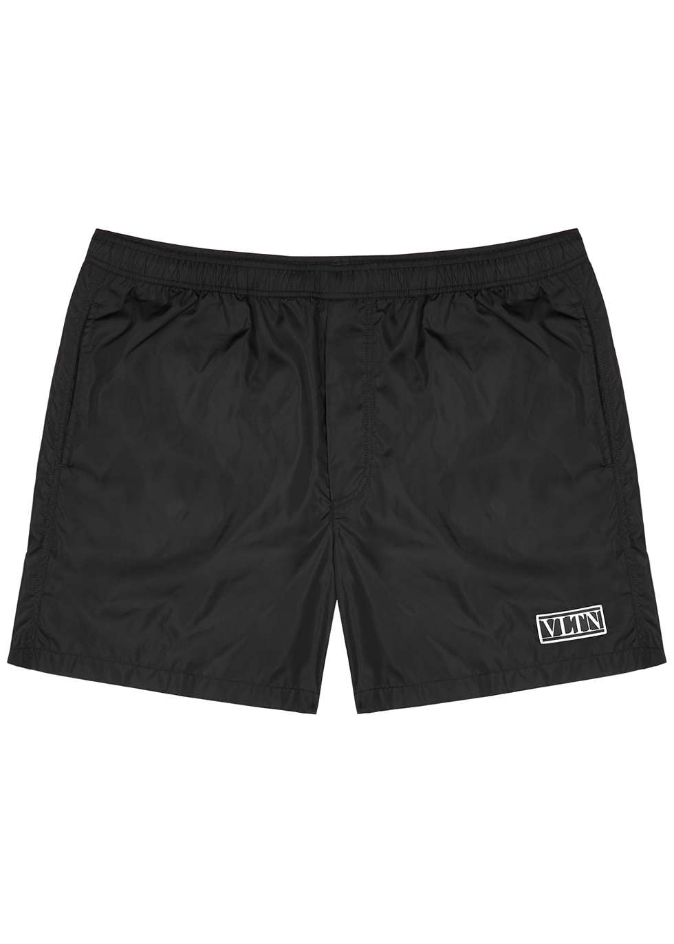 VLTN black shell swim shorts