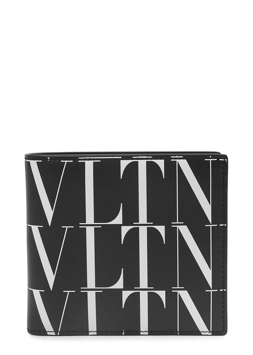Valentino Garavani VLTN black leather wallet