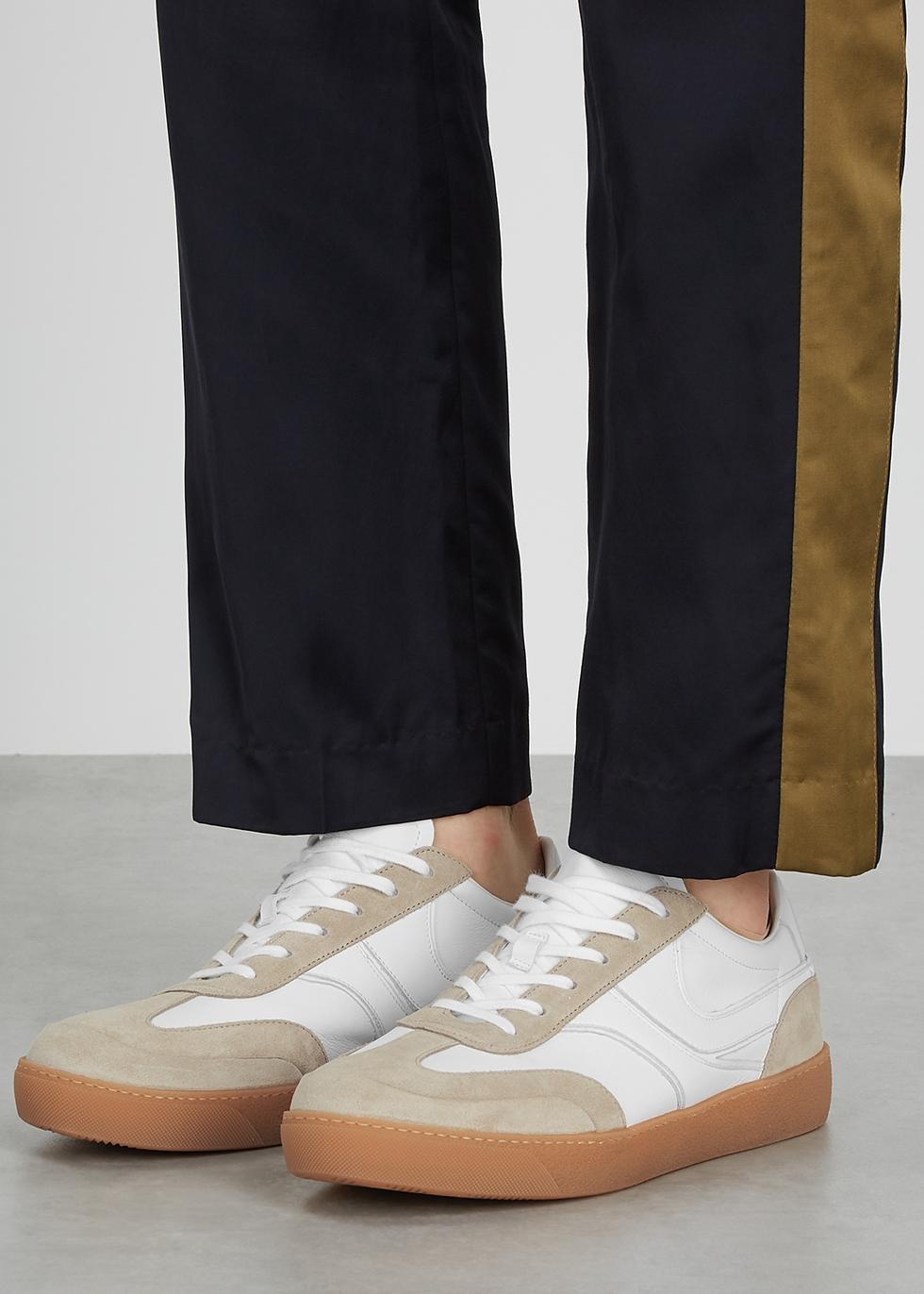 Dries Van Noten White panelled leather