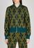 Malta intarsia stretch-knit bomber jacket - Dries Van Noten