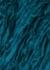 Minouch teal tasseled mohair-blend scarf - Dries Van Noten