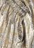 Sofya silver and gold silk-blend lamé skirt - Dries Van Noten