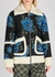 Vento floral-embroidered wool-blend jacket - Dries Van Noten