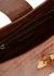 Cat brown crocodile-effect leather shoulder bag - ELLEME