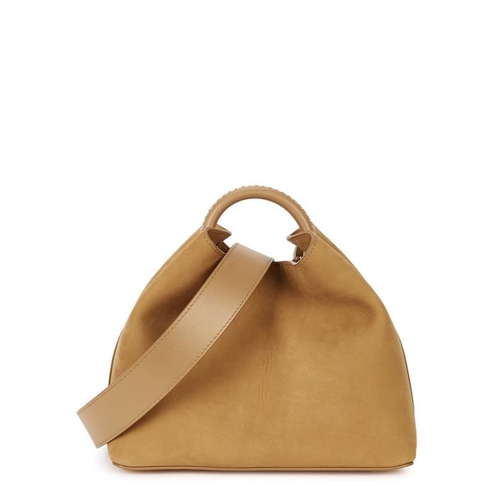 Elleme Raisin Camel Nubuck Top Handle Bag