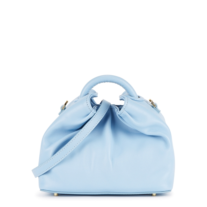 Elleme DUMPLING LIGHT BLUE LEATHER CROSS-BODY BAG