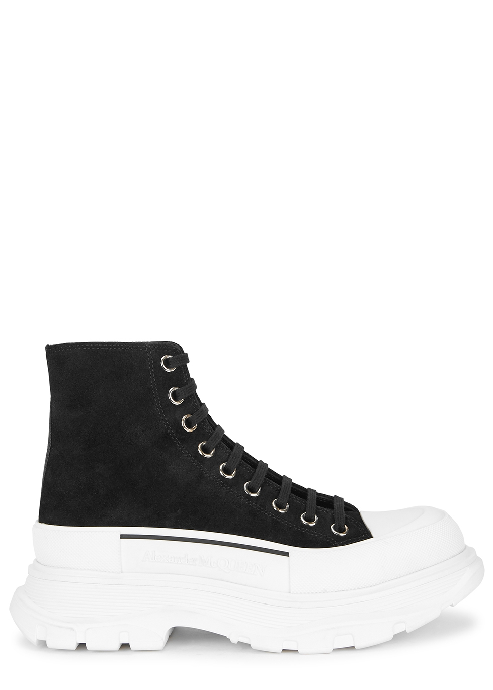 Tread Slick black suede hi-top sneakers