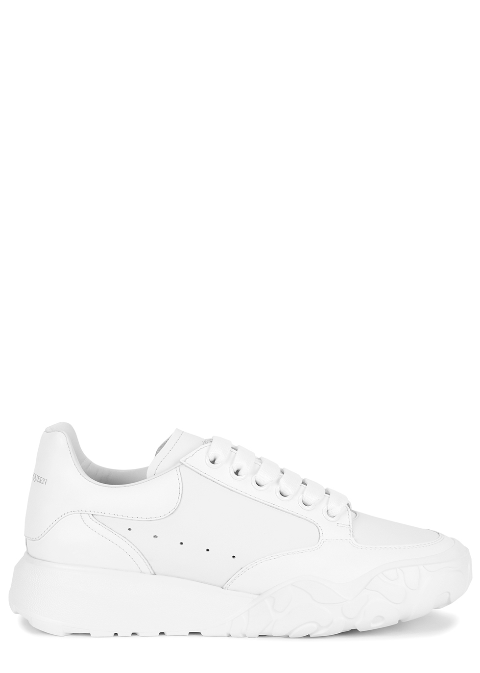 Oversized Court white leather sneakers