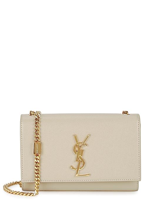 Kate small cream leather shoulder bag - Saint Laurent