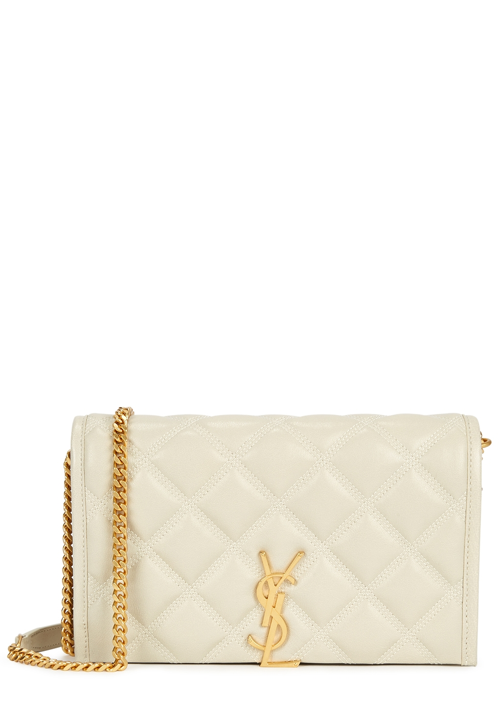 Becky cream leather shoulder bag