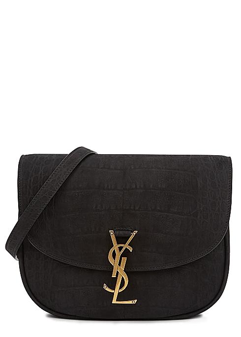 Kaia medium crocodile-effect shoulder bag - Saint Laurent