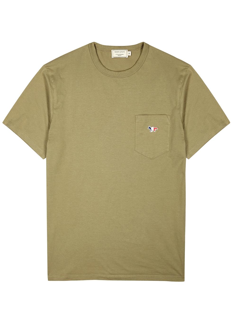 Olive cotton T-shirt