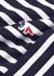 Navy striped cotton top - Maison Kitsuné