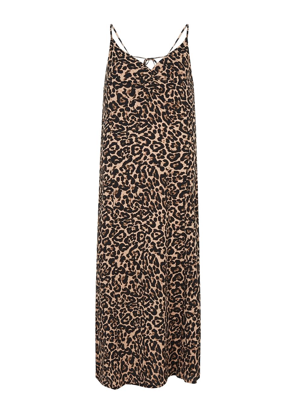 Asta leopard-print midi dress
