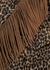 Leopard-print fringed wool-blend jacket - Saint Laurent