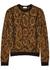 Brown snake-intarsia knitted jumper - Saint Laurent