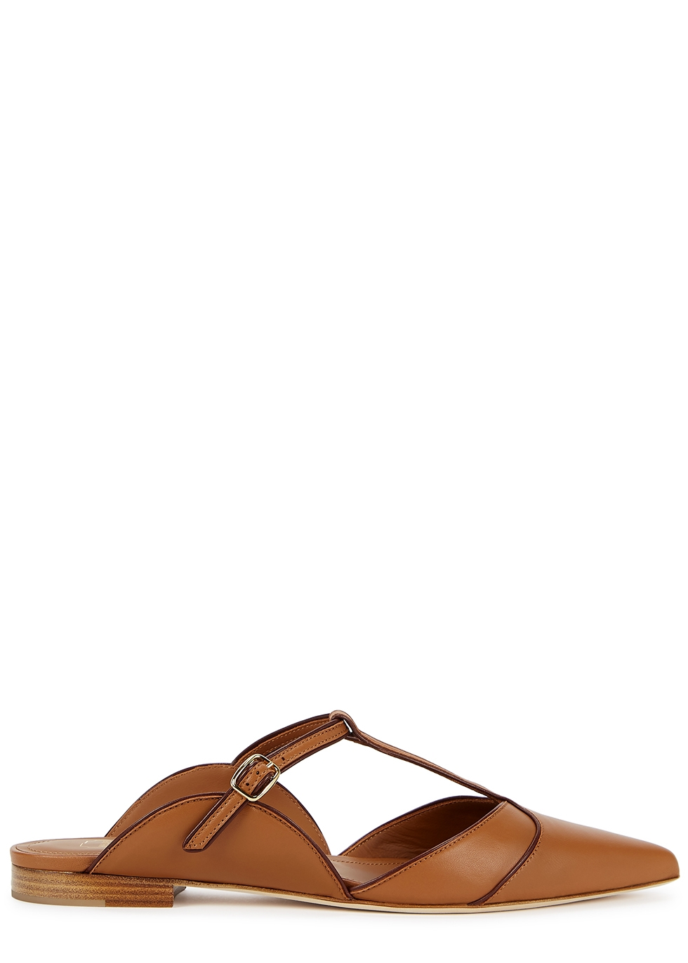 Imogen 10 brown leather mules