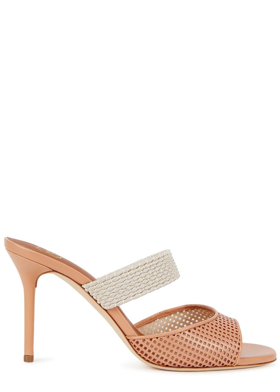 Milena 85 blush leather sandals