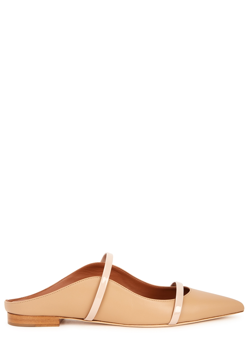 Maureen 10 almond leather mules