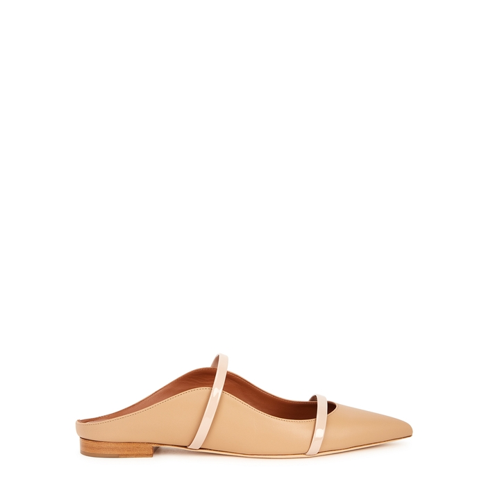 MALONE SOULIERS MAUREEN 10 ALMOND LEATHER MULES