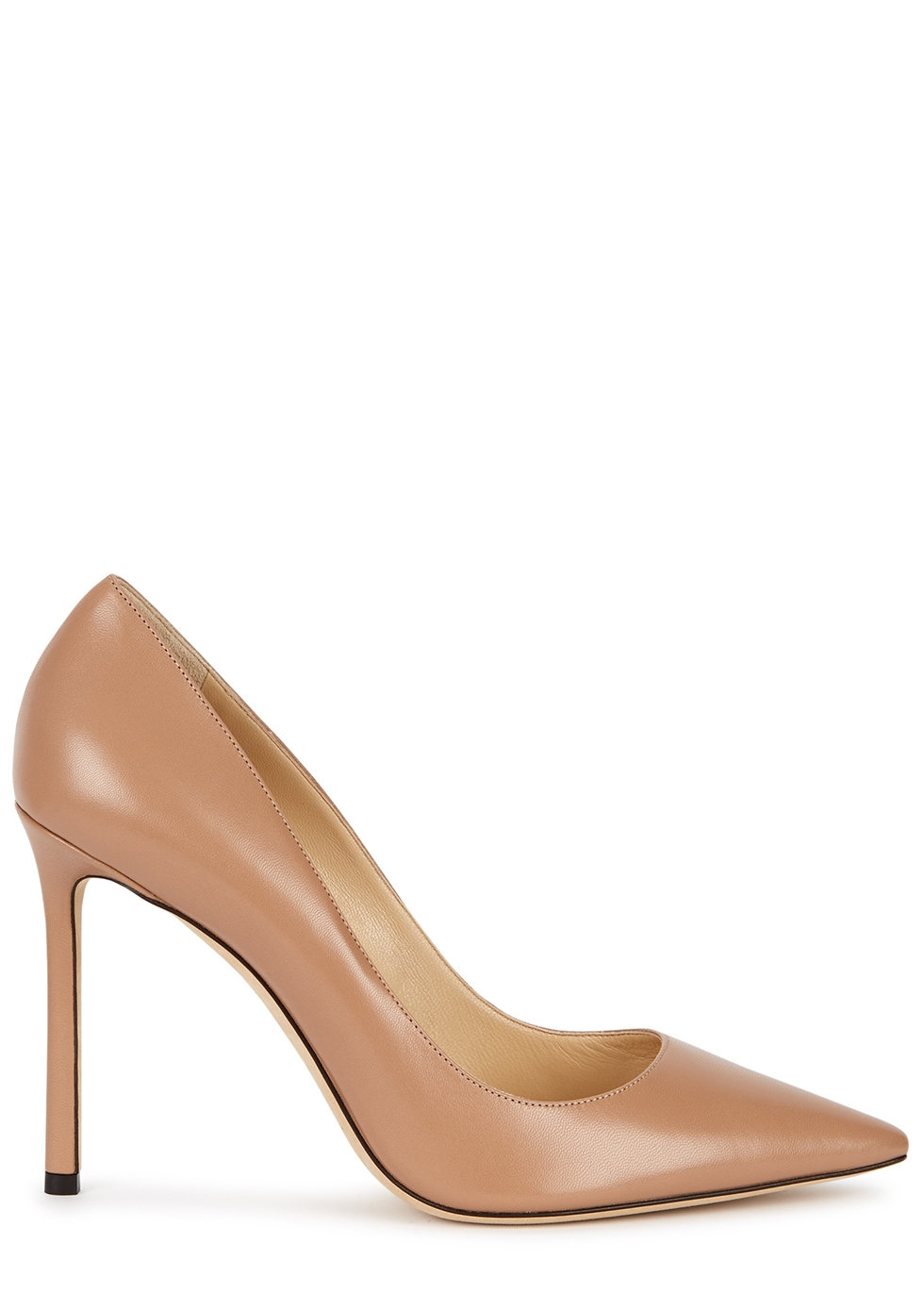Romy 100 almond leather pumps