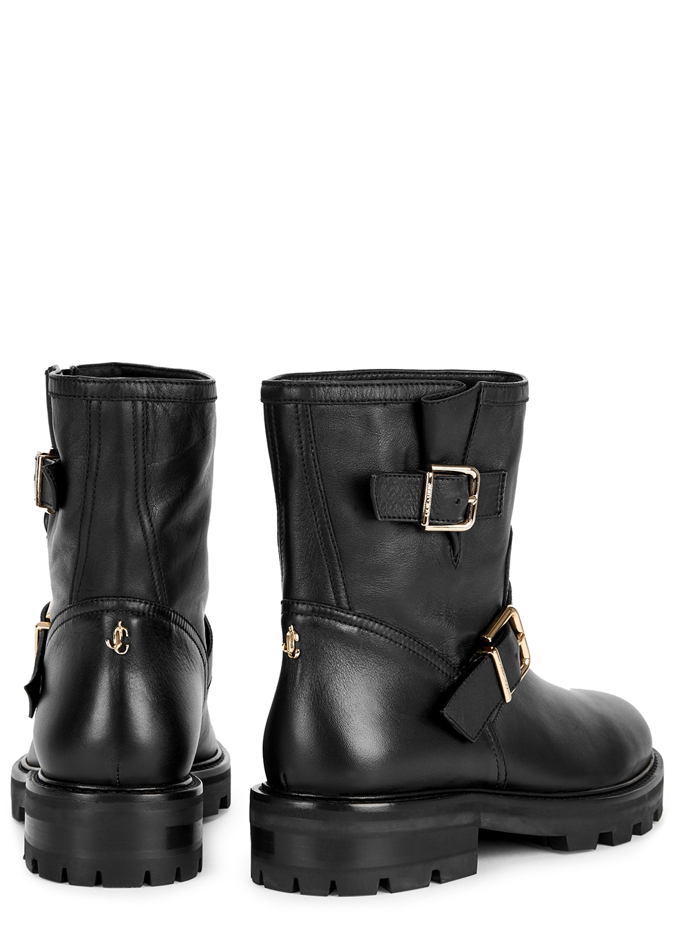 Jimmy Choo Youth black leather ankle