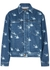 Blue swallow-print denim jacket - McQ Alexander McQueen