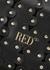 Black scalloped leather clutch - RED Valentino