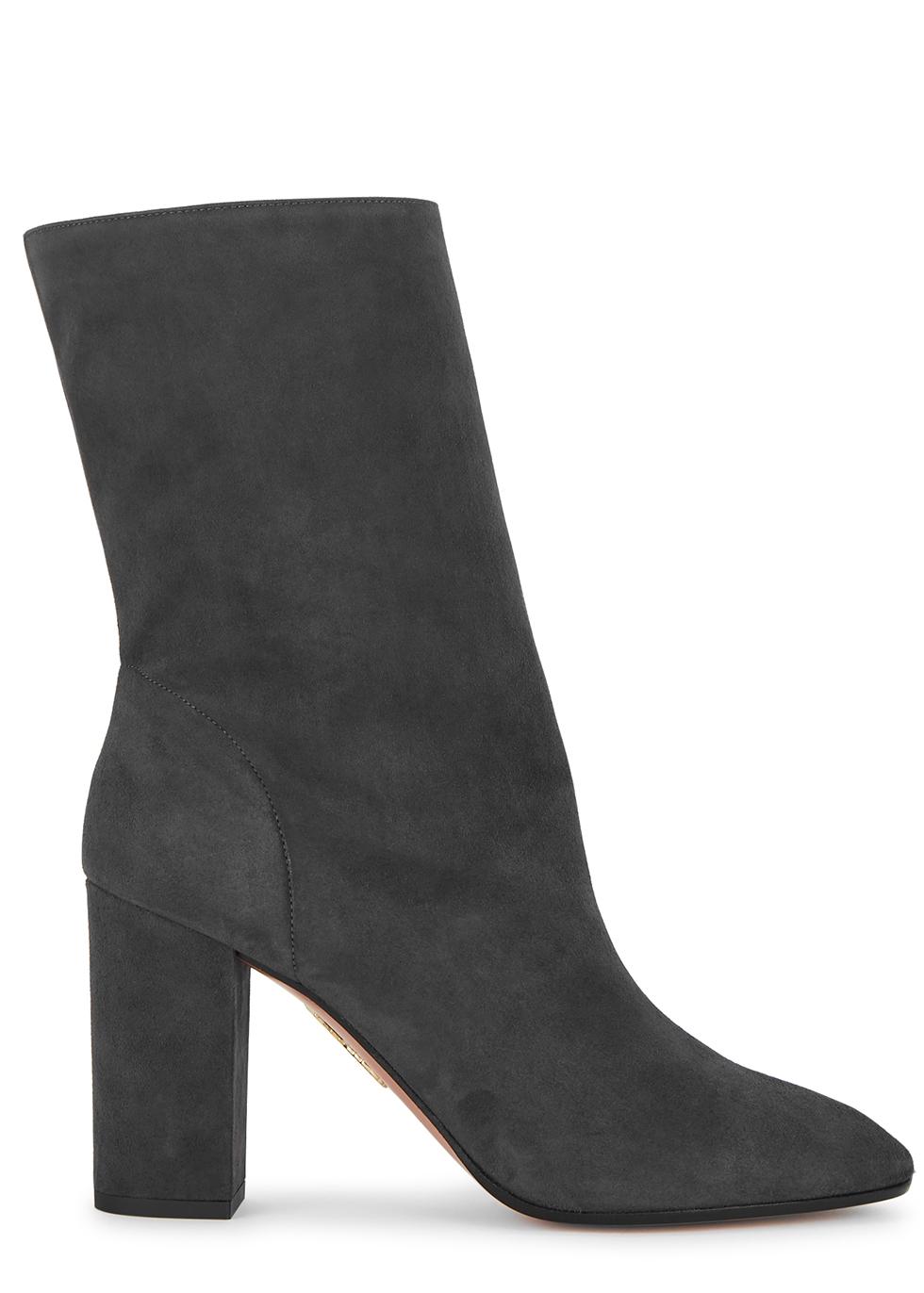 Boogie 85 dark grey suede ankle boots