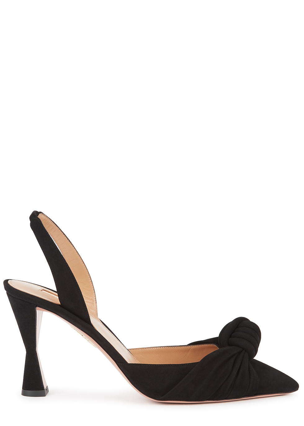 Kiki 85 black suede slingback pumps
