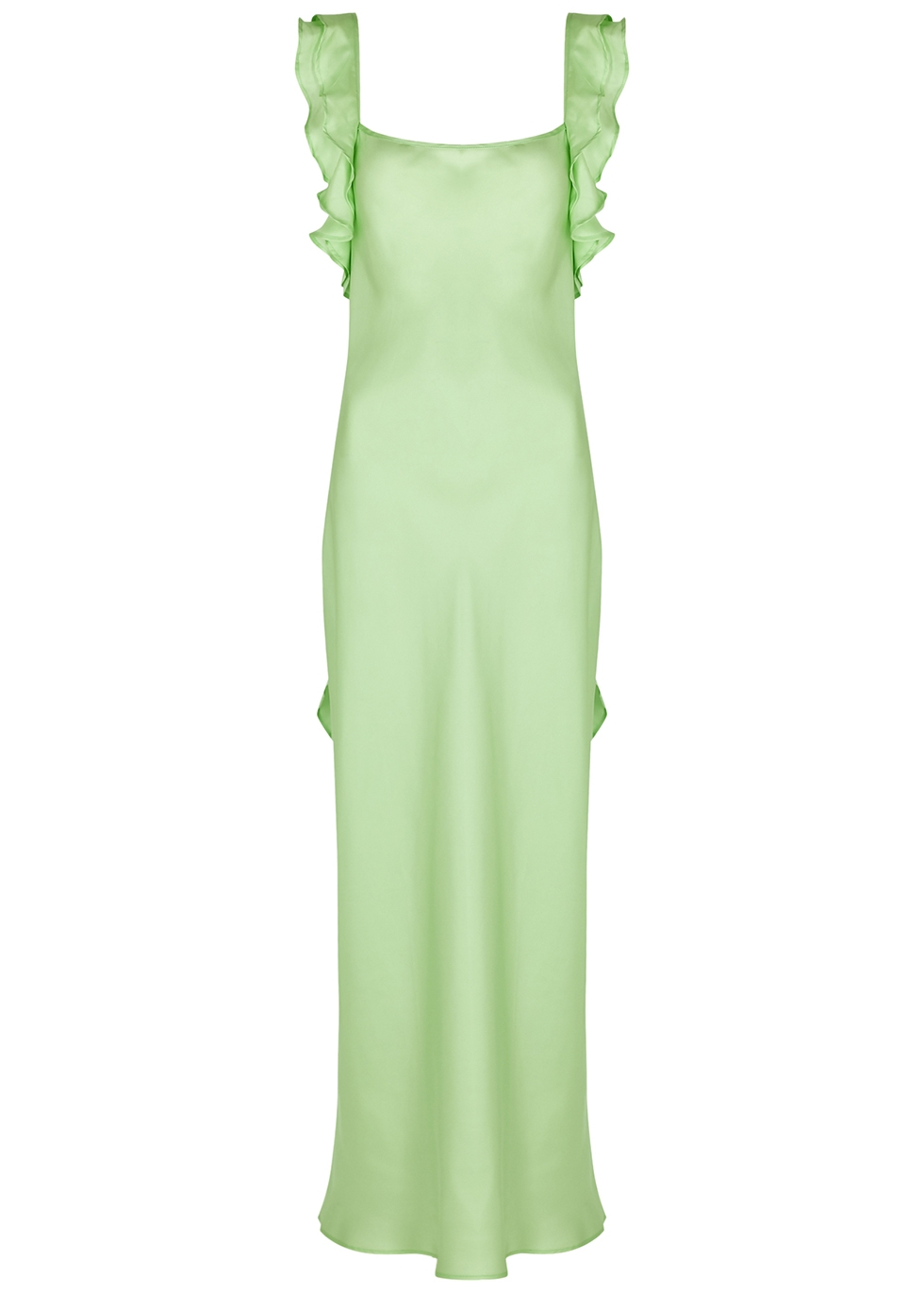 Cover Girl mint silk dress