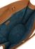Jamie brown leather tote - USISI SISTER