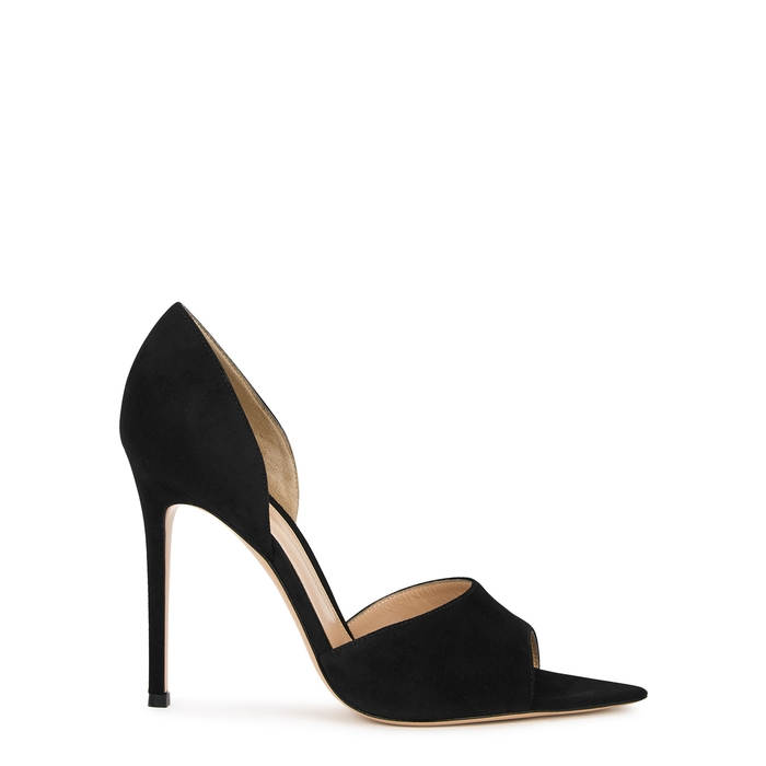 Gianvito Rossi CAMOSCIO 105 BLACK SUEDE PUMPS