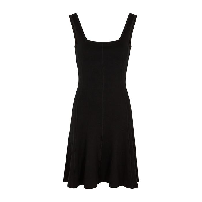 Ninety Percent BLACK STRETCH-COTTON MINI DRESS