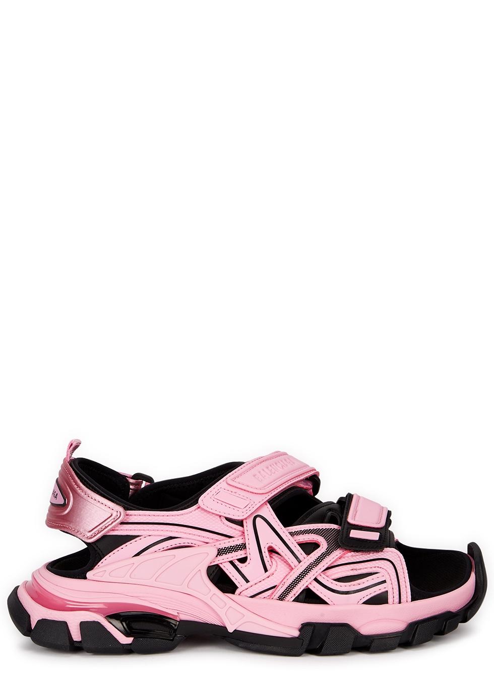 Balenciaga Track pink panelled neoprene