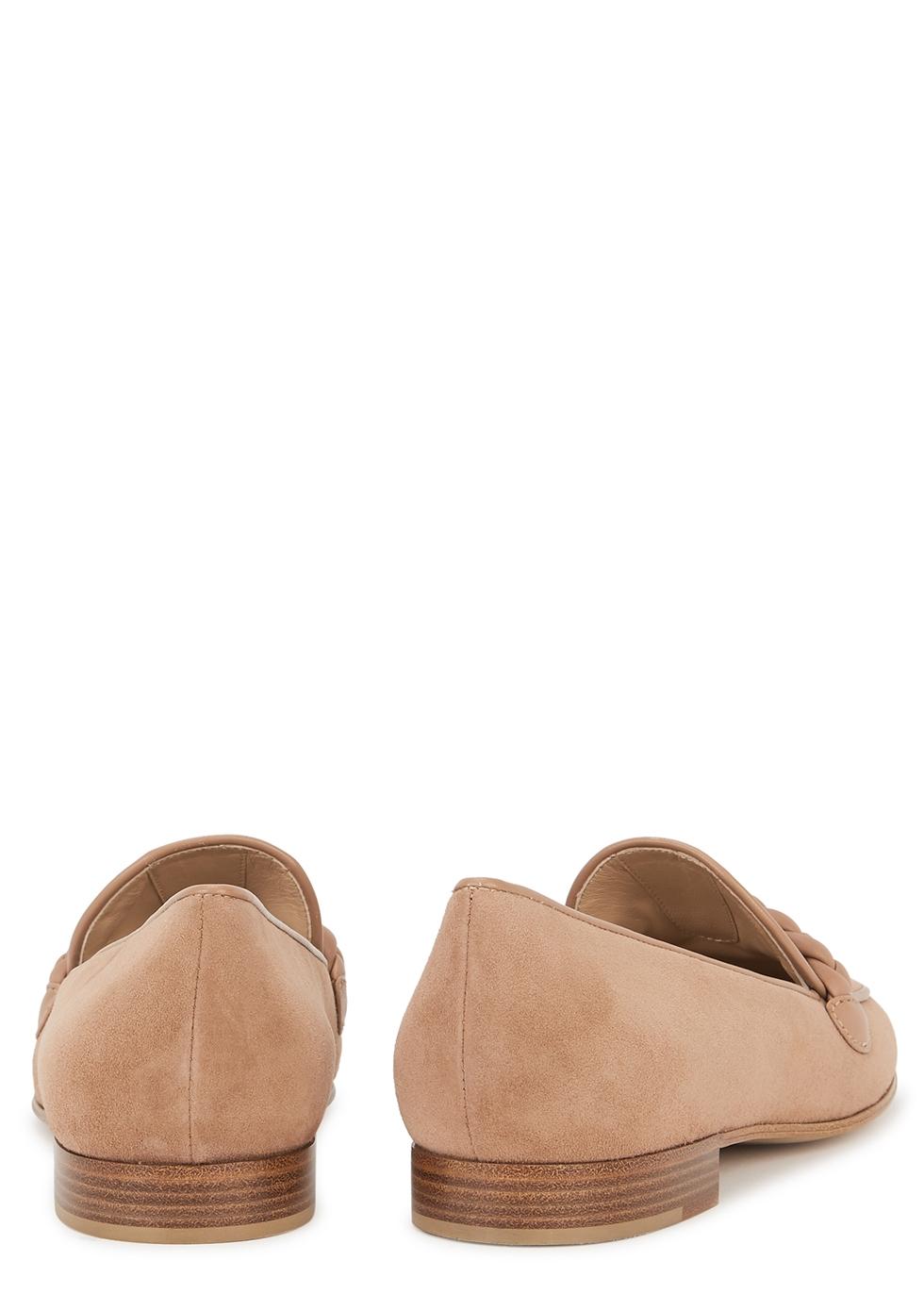 Gianvito Rossi Dusky pink suede loafers