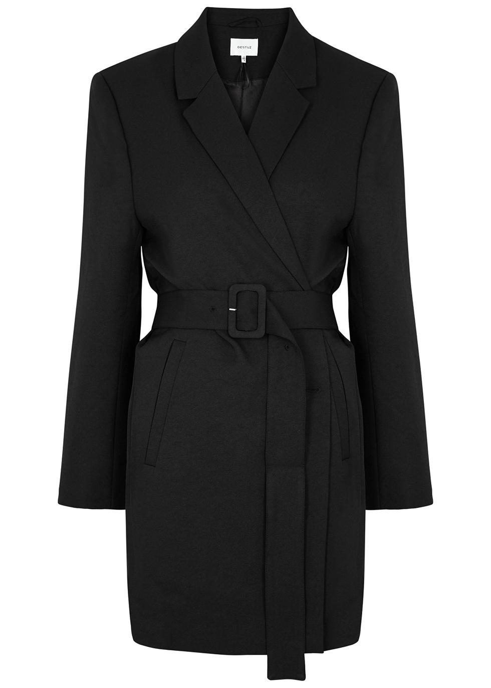 Fleur black belted blazer