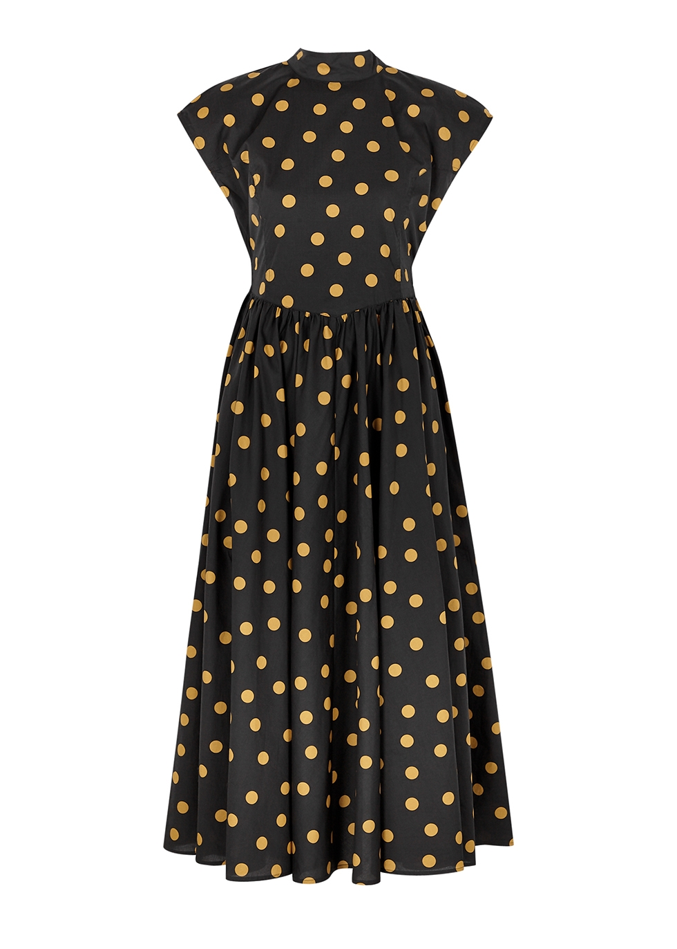 Cassia polka-dot cotton midi dress