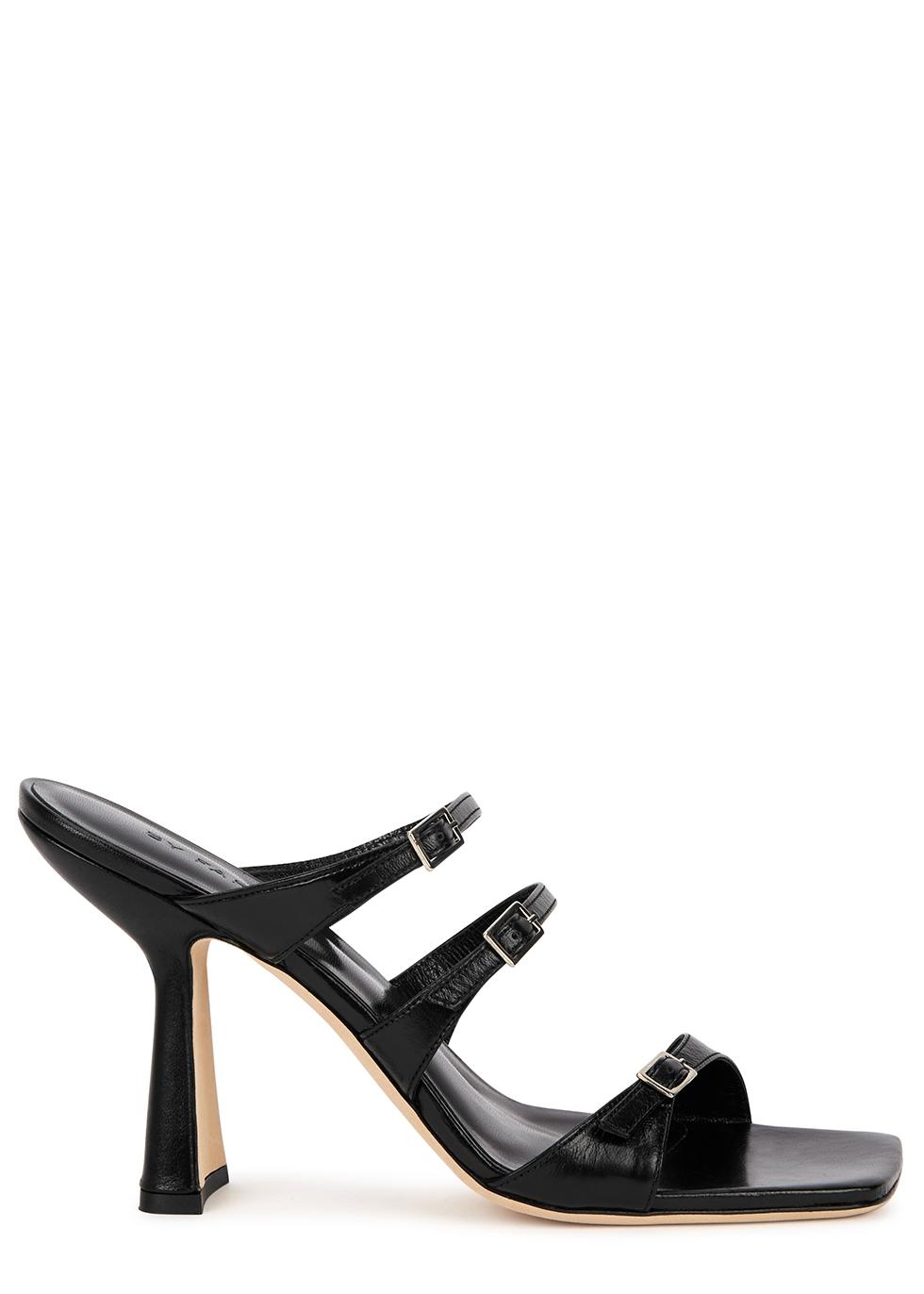 Malene 100 black leather sandals